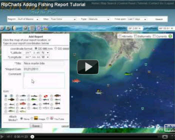 Watch a video tutorial on how to add fishing reports to the map